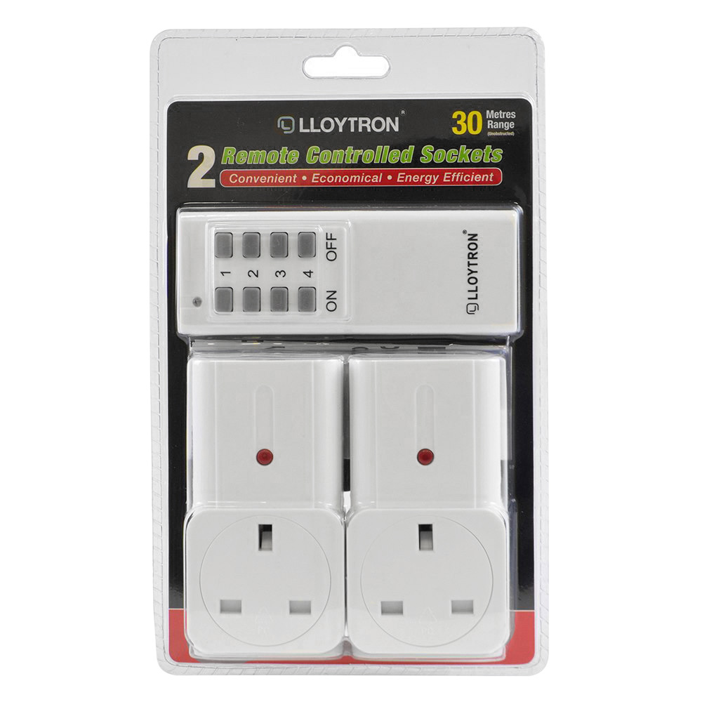 LLoytron Remote Socket Twin Pack