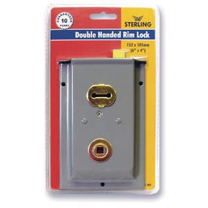 Double Handed Rim Sashlock 6 x 4in