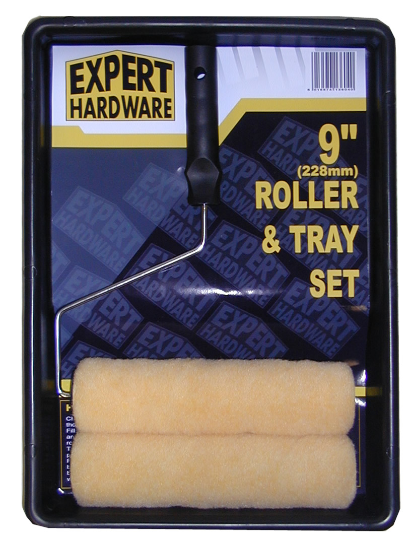 Expert Hardware Roller and Tray Set with 2 Sleeves