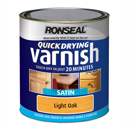 Ronseal Colour Varnish Satin 250ml or 750ml - Assorted Colour