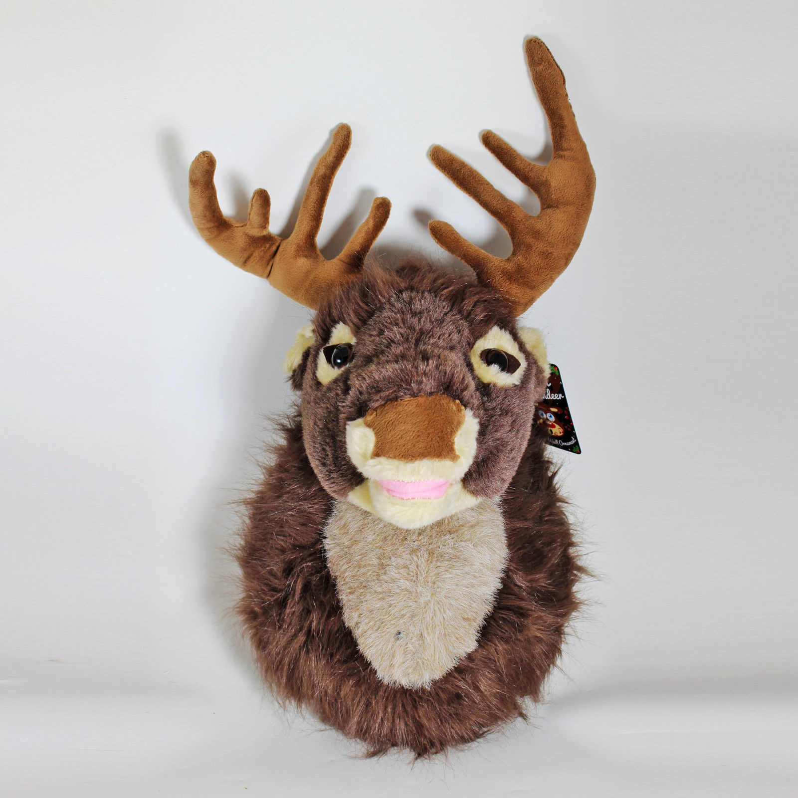 Christmas 40cm Motion Activated Plush Singing Reindeer Head