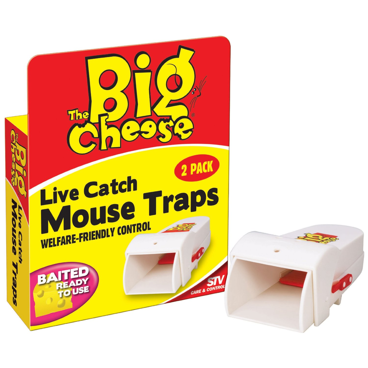 Stv155 Live Catch Mouse Trap Baited Ready To Use 2 PK Humane