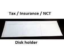 Car Road Tax Insurance NCT Disc Holder White Wallet