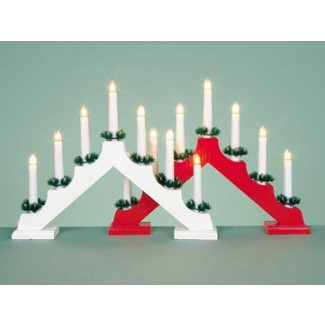 Time Smart LED Battery Operated Candle Bridges Pine or Red