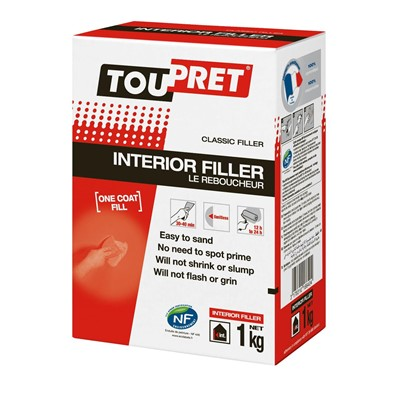 Toupret Interior Filler 1kg 5kg or 10kg