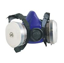 SCAPPERESPP2 Twin Half Mask Respirator and P2 Dust Filter Cartridges