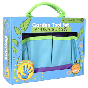 Young Buds Kids 3pc Garden Tool set with carry bag