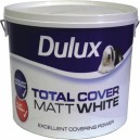 Dulux 10L Matt White Total Cover