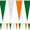 10M Fabric Bunting Tri Colour Green White and Orange