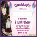 Personalised Invites Postcard Size - Assorted Pack Sizes
