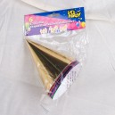 Foil Party Hats Assorted Sizes and Colours: 6 - 12 - 30 packs