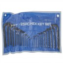 BS15307 Metric and Imperial Hexagon Key Pouch Set of 25