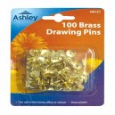 100 BRASS DRAWING PINS