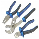 Faithfull Chrome Vanadium Soft Grip Plier Set 3 Piece FAIPLSET3