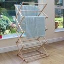 JVL Wooden Clothes Horse Airer