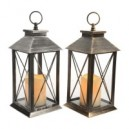 LED Lantern With Timer - 14 x 14 x 27CM