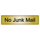 No Junk Mail Sign Gold or Silver
