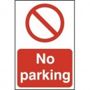 Spectrum Self Adhesive Sign No Parking 200 x 300mm or 200x50mm