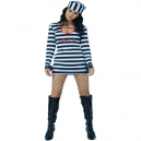 Prisoner Lady Fancy Dress Costume