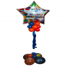 Jumbo Personalised Star Balloon Foil with Latex Base