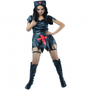 Wicked Nurse Black Fancy Dress Costume