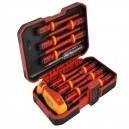 XMS15VDE12 Faithfull VDE Screwdriver Set of 12 and Mainstester