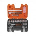 Bahco 24 Piece Half Inch Square Drive Socket Set BAHS240