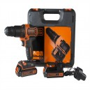 XMS17CORDLES Black and Decker CHD18KB Combi Drill with 2 batteries