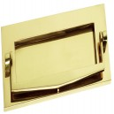 Polished Brass Plain Letter Box with Knocker 10x3in