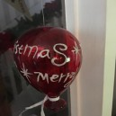 Merry Christmas Glass Balloon Bauble Decoration