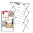 DEV761239 DeVille Premium Chrome Accordian Airer with FREE Sock Holder