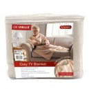 De Vielle Cosy TV Blanket Cream or Red