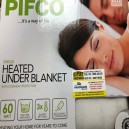 Pifco Electric Under Blanket Washable Single or Double