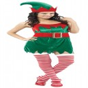 Elf Lady Christmas Fancy Dress Costume