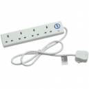 Faithfull Surge Protected Trailing Socket 4 or 6 Gang