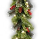 Battery Operated Time Smart 6 Foot Christmas Garland