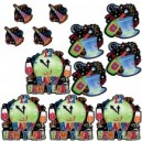 Happy New Year Glitter Cut Outs 12 Pieces