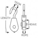 Clothes Line Hook and Eye Pulley