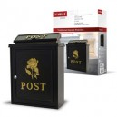 De Vielle Gold White or Red Rose Diecast Post Box