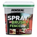 Ronseal 5 Year Fencelife Spray or Brush - Assorted Colours