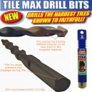 Faithfull Tile Max Drill Bits Assorted Sizes