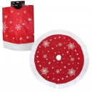 Jingles Christmas Tree Skirt Red with Santa