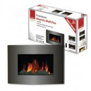 DeVille Premium Wall Log Fire with Remote Control
