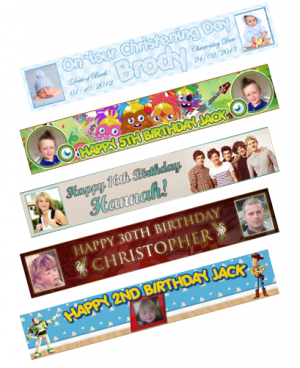 Personalised Banner Samples