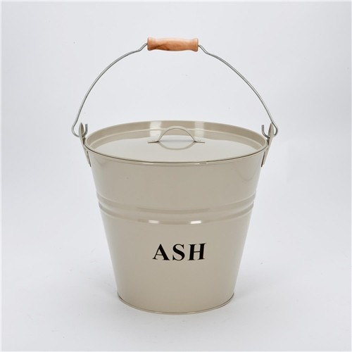 Cream Ash Bucket with Lid