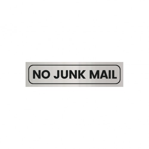 No Junk Mail Sign Silver