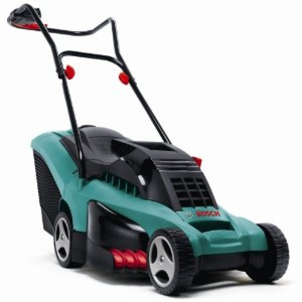 bosch rotak 34 rotary electric lawnmower. Black Bedroom Furniture Sets. Home Design Ideas
