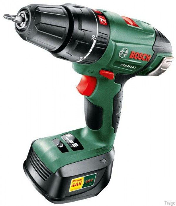 bosch psb 18 cordless 18 volt drill driver and 2 batteries. Black Bedroom Furniture Sets. Home Design Ideas