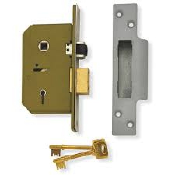 Union 5 lever mortice deadlock 63mm or 75mm replaces chubb for Front door 5 lever lock