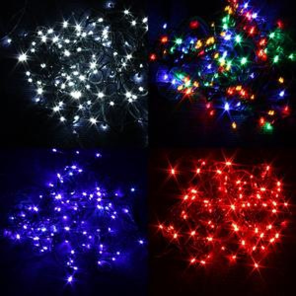 Premier Static LED Christmas Lights Indoor or Outdoor - 100 LED Christmas Tree Lights Indoor Or Outdoor